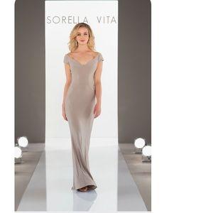 Sorella Vita taupe formal dress